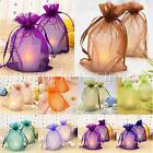25/50/100 Plain Organza Drawstring Gift Jewelry Bags Pouches For Wedding Party