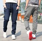 Mens Casual Sports Sweat Pants Harem Dance Gym Baggy Jogging Trousers Slacks New