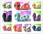 FREE SHIPPING Wholesale(10colour) Turquoise Carved Skull Beads 12X10MM 10X8MM