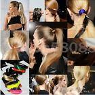 Hot Women/Lady Fluorescence Wig Ponytail Elastic Rope Head Hair Band 10Color New