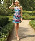 "New $178 Lilly Pulitzer KIRKLAND DRESS 6 / 8 CHEVRON ""Multi Hearts A Flutter"""