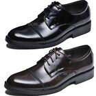 Lace Up Oxford Calf Leather Shoes Size 38-44 NEW UK 5 6 7 8 10 Black/Brown