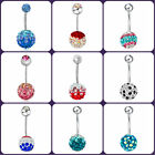 Hot 316L Surgical Steel Colorful Ball Belly Navel Button Bar Ring Body Piercing