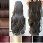 "Any Color 17-27"" Clip in Hair Extensions Wavy Curly/Straight Synthetic Clip hs17"