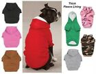 FLEECE LINED Dog HOODIE Heavy Double Layer Sweatshirt Shirt Sweater Zack & Zoey