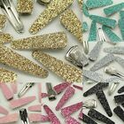 "70mm (2.75"") Alligator Clips for girls baby hair accessory Glitter Hair Clip lot"