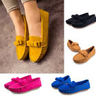 Fashion Comfy Womens Bow Casual Slip-On Shoe Ladies Faux Suede Ballet Flats