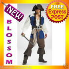 C184 Licensed Pirates Of The Caribbean Captain Jack Sparrow DELUXE Adult Costume