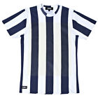 AMH ASHLEY MARC HOVELLE SS14 DECKCHAIR STRIPE T-SHIRT WHITE NAVY