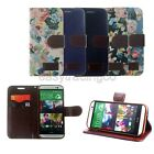 Denim Fabric & PU Flip Leather Cover Case for All New HTC One (M8) 2014