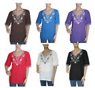 Embroidered  Embroidery Tunic Shirt Top Blouse M L Xl 2Xl 3Xl 4Xl