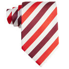 Mens Classic Ties UK Red & Burgundy Striped Excellent Quality Neckties Sets