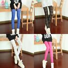 New Sexy Women's Lace Hollow Out Sheer Straight Elastic Leggings Pants Trousers