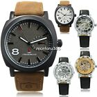 Army Military Leather Strap Quartz Wrist Watch/Skeleton Mechanical Men's Watches