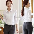 Hot New Women Ladies Long Sleeve OL Office Business Casual Shirt Blouse Tops N4U