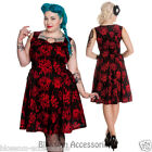 RKP23 Hell Bunny Bella Bleeding Roses Gothic Dress Rockabilly Pinup 50's Vintage