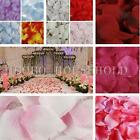 100/1000Pcs Silk Flowers Rose Petals Wedding Party Decoration Favours Multicolor