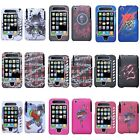 Skull Color Snap-On Rubberized Hard Case Cover w/ Stylus For iPhone 3 3G 3GS
