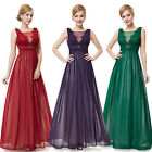 Sexy Ladies Black V-Neck Maxi Long Prom Party Evening Dress Gown 09992 Size 6-18