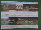 Westham United  Home Programmes 1982 -1989 Season