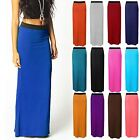NEW LONG LADIES WOMENS JERSEY MAXI SKIRT GYPSY BODYCON BIG DRESS PLUS SIZE 16-26