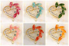 New Heart Love Red Vintage Rhinestone Crystal Flower Bridal Brooch Pin Lot Gifts