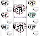Pugster Registered Nurse Caduceus Rn Heart Love Crystal CZ Wings Charm Beads
