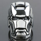 Fashion Woman Man's Stainless Steel Iron Man Ironman Biker Finger Ring Jewelry