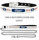 San Diego Padres Leather Dog Collar Officially Licensed MLB Cat Pet Leash Lead