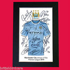 MAN CITY Premier League Winners 2014 Autograph Mounted Photo Repro A4 Print 460