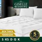 Luxury Pillowtop Mattress Topper Memory Resistant Protect Cover – ALL SIZES