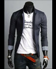 New Fashion Mens Slim Fit Stylish Casual One Button Suit Coat Jacket Blazers $$