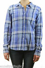 STEVEN ALAN Blue Plaid Reverse Seam Long Sleeve Cotton Top WST03CT NWT $158