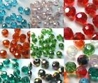 Wholesale 30pcs faceted ball findings glass crystal DIY spacer beads 6mm
