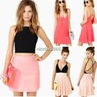 New Fashion Summer Dress Sexy bodycon V-neck Stitching Hollow Chiffon Vest Dress