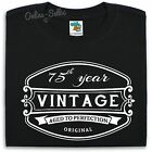 75 th Vintage Birthday Mens T Shirt 76 77 78 79 Gift Present Bday Dad Funny
