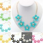 New Womens Sweety Temperament Short Flower Necklace Choker Chunky Statement