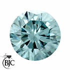 BJC® Loose Round Brilliant Cut Natural Aquamarine Stones AAA Grade Multiple SizeAquamarine - 10200