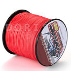 New!100M-1000M Red 6LB-300LB Super Strong Dyneema Braid Sea Fishing Line