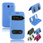Flip PU Leather Case Cover Smart Wake Up w/View For Samsung Galaxy Core i8262