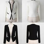 Fashion Ladies Short Casual OL Business Suit Coat Slim Jacket Blazer Tops Coat