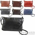 Ladies Soft Premium Leather Cross Body / Shoulder Bag (7 Colours Available)