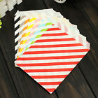 25Pcs Diagonal Stripe Paper Snack Treats Lolly Favour Kid Candy Buffet Party Bag