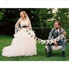 JUST MARRIED Torse Wedding Banner Party Handmade Decor Bunting Sign Photo Prop