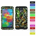 For Samsung Galaxy S5 Camo Mossy Oak Hybrid Rugged Impact Armor Phone Case Cover