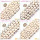 Natural beauty white round edison nucleated pearl jewelry making gem beads 15""