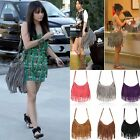 Trendy Celebrity Tassel Suede Fringe Shoulder Messenger Handbag Cross Body Bags