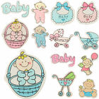 5x Newborn Baby Shower Wooden Embellishments / Toppers - Card Making & Scrapbook