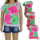 Girls T Shirt Floral Top Fashion Top Summer Top Kids 3-12 Y Bargain Last Ones