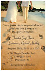 30 40 50 100 WALK on the BEACH PERSONALIZED 5X7 WEDDING Invitation Custom